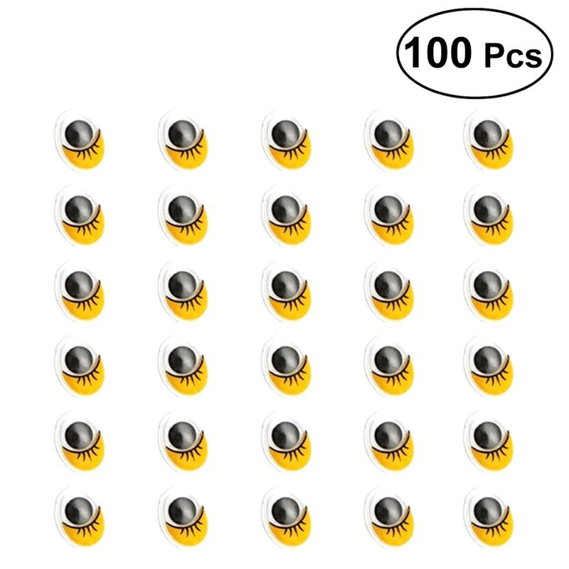 200 Moving Wiggly Wobbly Googly Eyes foy DIY Doll Scrapbooking crafts 15mm