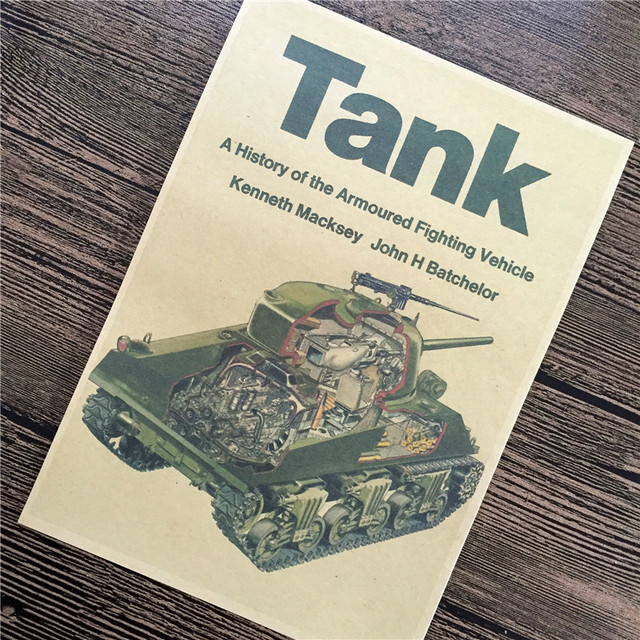 retro kraft paper poster about tank soviet armor for home decor a