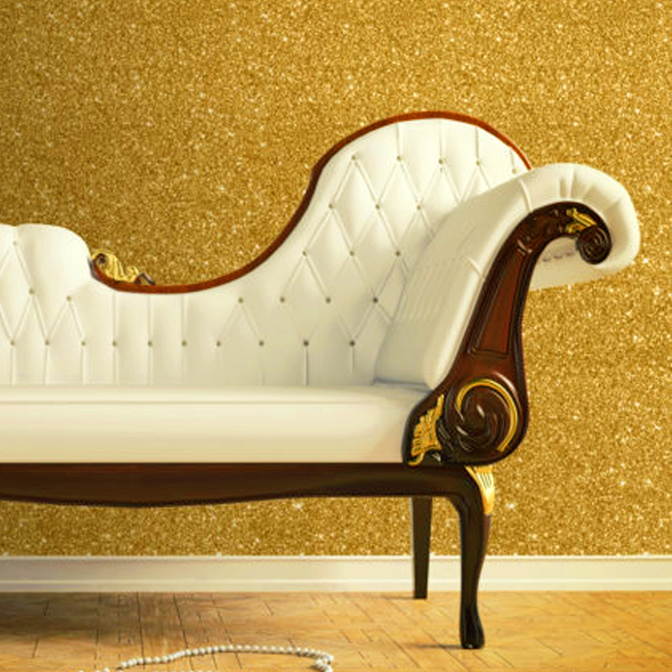 Commercial Flashing Scrub Matte Gold Foil Wallpaper Glitter Effect Feature Luxurious Walls Background Golden for home