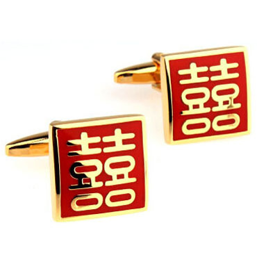 Chinese Characters Words XI Cufflink Cuff Link 15 Pairs Wholesale Free Shipping
