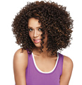 Free shipping Curly Brown Synthetic Wigs MIxed Color Glueless Futura Heat Resistant Synthetic wigs