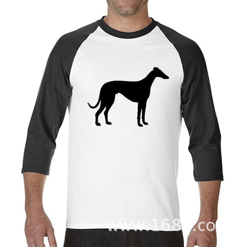 2017 Hot High Quality Cotton Greyhound Printed Summer Easeful funny raglan sleeve t shirt men