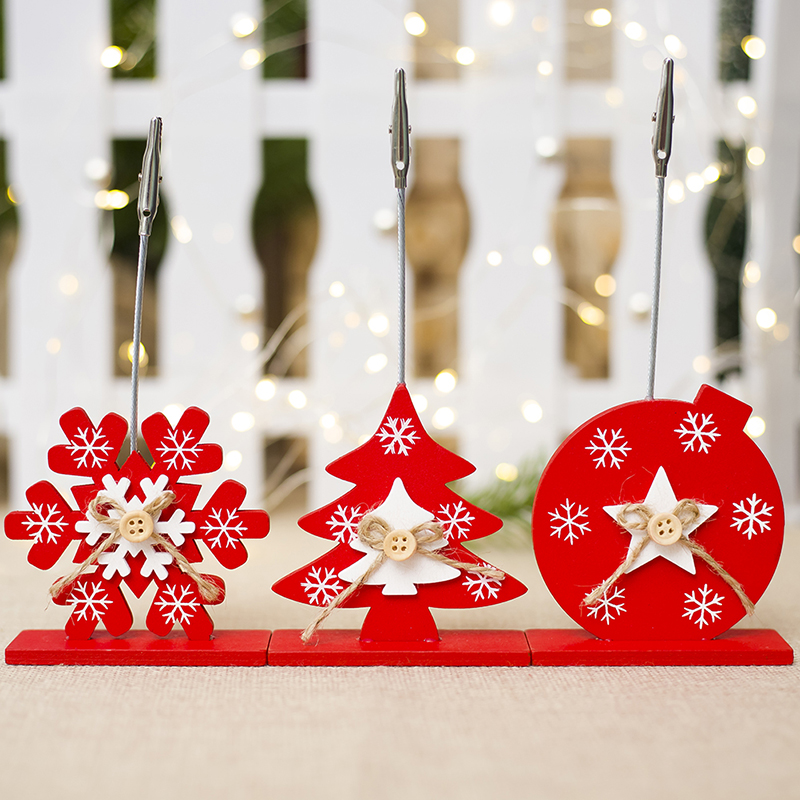 NEW Wooden Business Card Holder Innovative Christmas Table ...