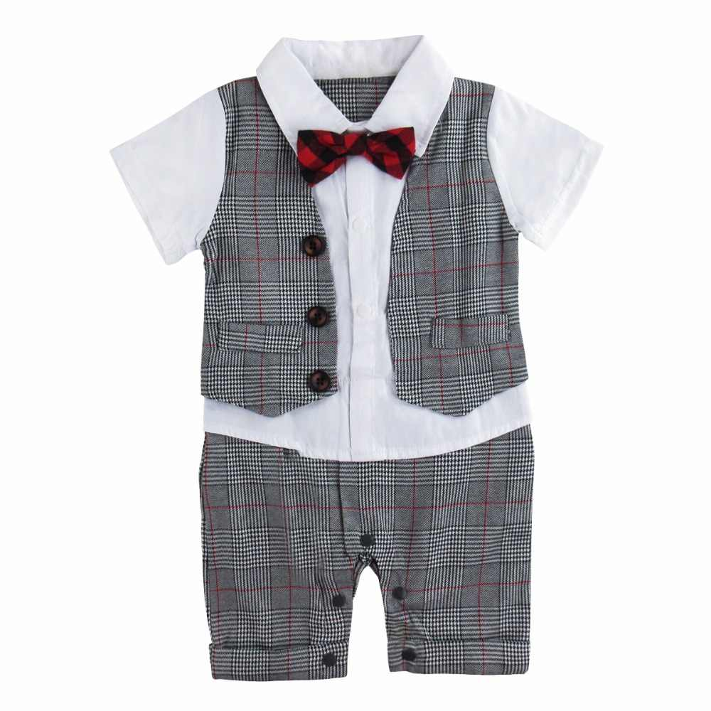 9c9194602183 Detail Feedback Questions about Baby Boy Romper Gentleman Wedding ...