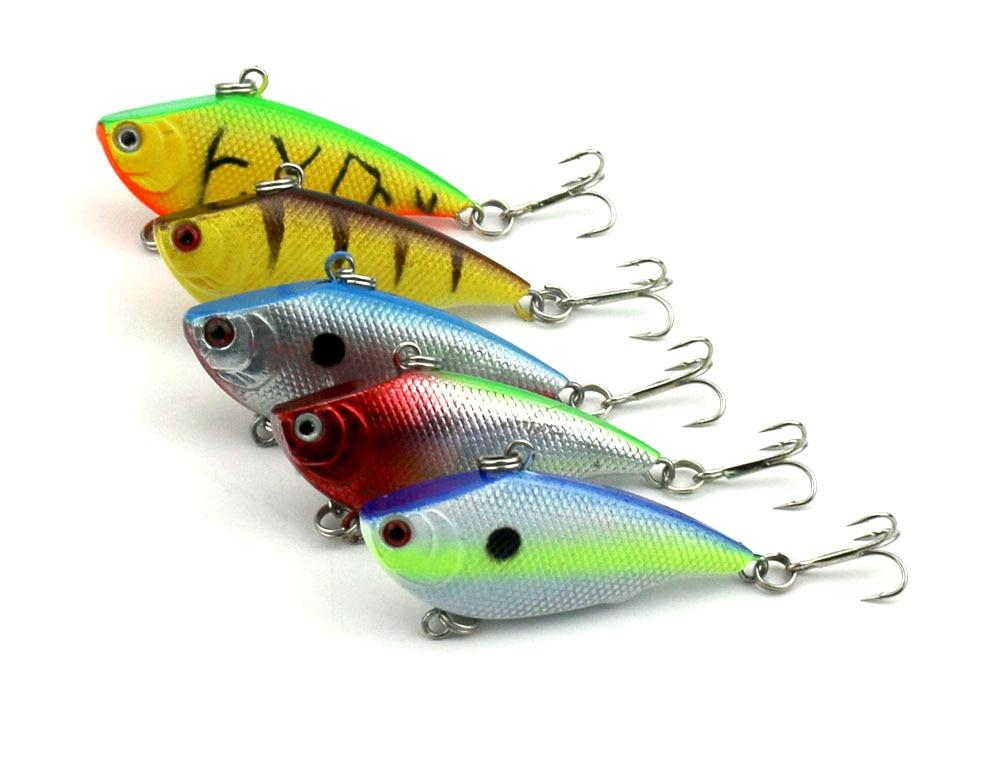 Plastic 10pcs Fishing Lures Crankbaits Hook Minnow Baits Tackle Crank Fishing