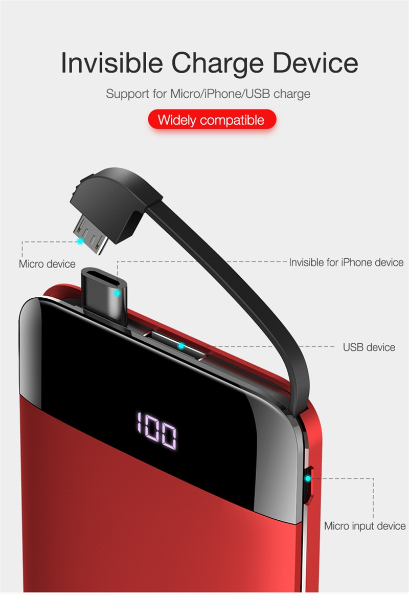11. LED Display Phone Charger power bank