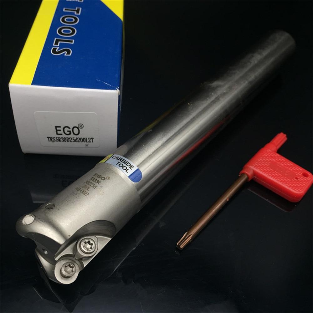 Milling cutter holder TRS5R30D25d200L2T corner rounding end mills ball nose end mills RDMT10T3 TRS4R полка holder ska r