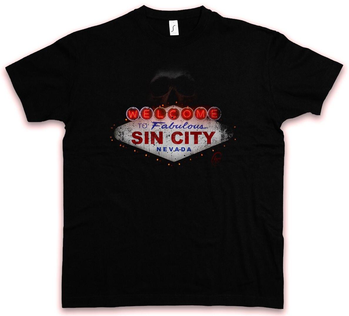 SIN CITY HC HATE COUTURE T-SHIRT Fabulous Las Vegas Sign Logo Poker Casino Shirt