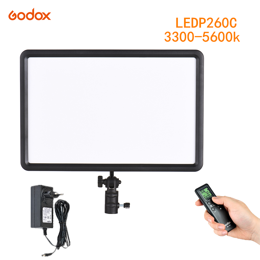 GODOX LEDP260C Ultra thin 30W 3300 5600k LED Video Light Panel Lamp for Digital DSLR Camera