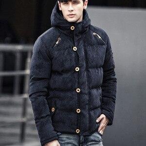 Image 4 - Bolubao 新冬男性パーカーコート冬のファッションブランドメンズ品質入り厚く暖かいコート男性綿フード付きパーカー