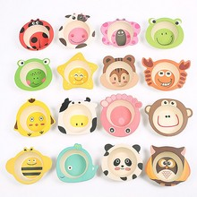 Betaalbaar Cartoon subrooster bord servies kind servies melamine baby en babyvoeding schotel kid dinner bowl