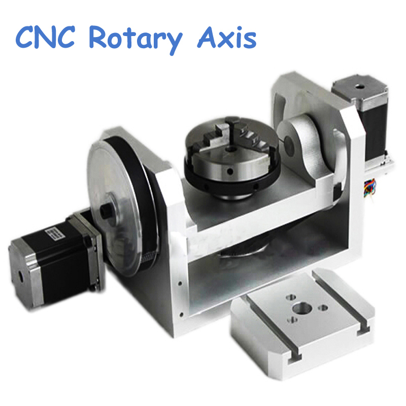 CNC Rotary Axis Axle Spindle with K01-100-Jaw Mandrels for Mini CNC Router Woodworking Machine Parts FAI DA TE mini cnc router for woodworking