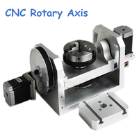 CNC Rotary Axis Axle Spindle with K01 100 Jaw Mandrels for Mini CNC Router Woodworking Machine Parts FAI DA TE