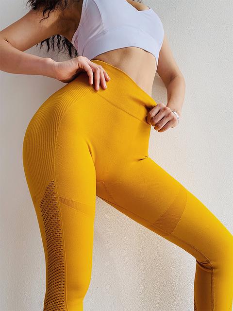 Seamless Push Up Yoga Pant Leggings with Tummy Control