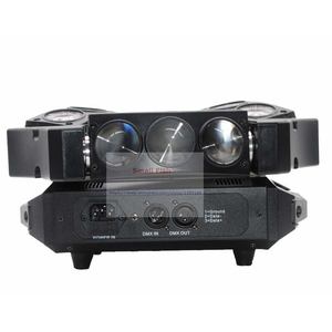 Image 3 - Hot Sale! 1Pcs Moving Head Light Mini LED Spider 9X3W RGB Full Color Beam Lights With 12/43 DMX Channel Fast Shipping