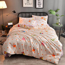 Promotion! Strawberry and Dot Cute Cartoon Printing 4PCS BED SET/bedding sets duvet cover Bedding sheet bedspread pillowcases