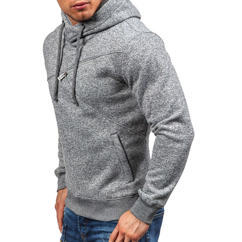 Autumn Winter Men Hoodies  2018 Fashion Casual Hooded Long Sleeve Pullover Solid Color Slim Mens Sweatershirt Hoodies