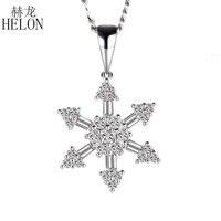 HELON красивые ювелирные изделия Твердые 10 K (417) кольцо с крапановой закрепкой камня круглый полный & багет природные бриллианты в форме снежин