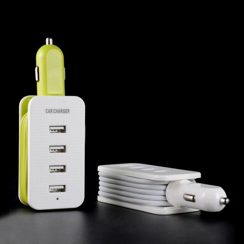 Chargeur De Voiture USB 4 Port De Voiture-Chargeur Adaptateur Socket 5V4. 3A Voiture Style USB Chargeur Pour Téléphone portable et D'autres Dispositifs Intelligents