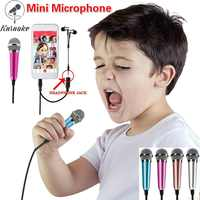 Portable Mini Microphone with Omnidirectional Stereo Microphone Suitable for Phone/Computers on An Object To Chat with Recording