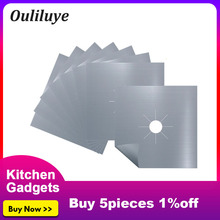 1PCS/4PCS Kitchen Gas Stove Protective Cleaning Mat Sheeting Reusable High Temperature For Tools