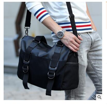 Men Canvas bag Large Capacity PU shoulder bag for Men travel handbag Messenger Bag for Teenagers PU Leather Men's Business bag