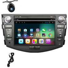 Quad core Android 6.0 2 din coche reproductor de dvd para toyota rav4 2007 2008 2009 2010 2011 2012 coche reproductor de cassette raido stereo gps