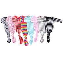 Kaiya Angel/1 шт.; ночная рубашка для малышей розовая и белая полосатая ночная рубашка для новорожденных; галстук для сна; Одежда для мальчиков и девочек;