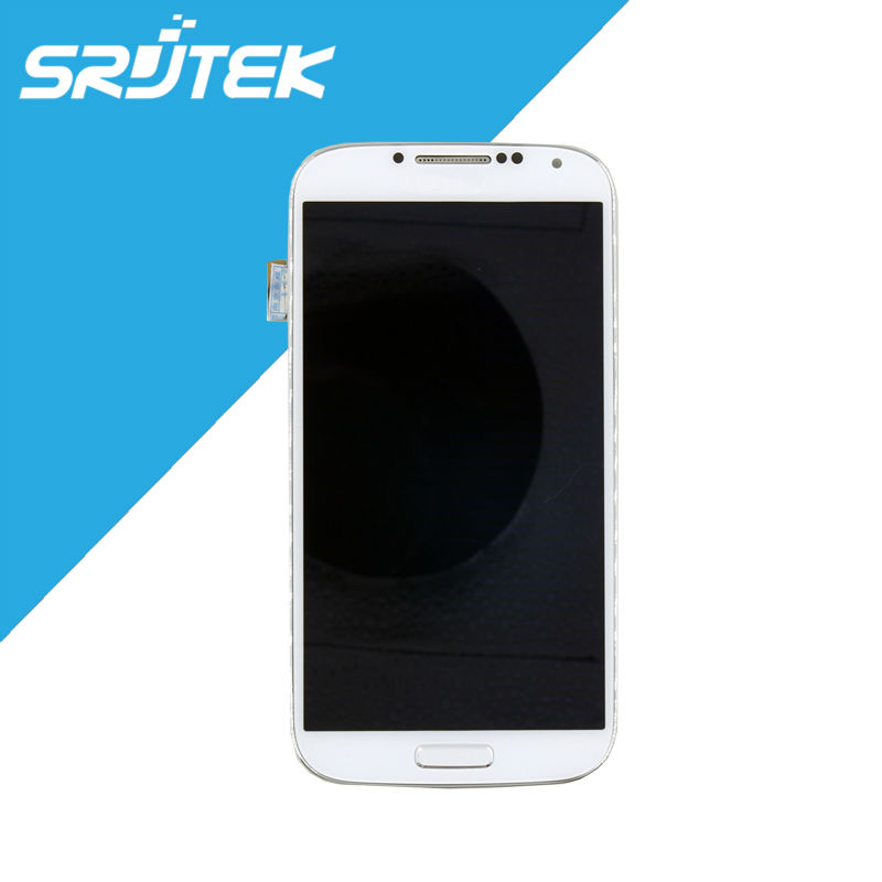 White for Samsung Galaxy S4 i9500 i9505 LCD Display Touch Screen + Frame Full Assembly Replacement Parts