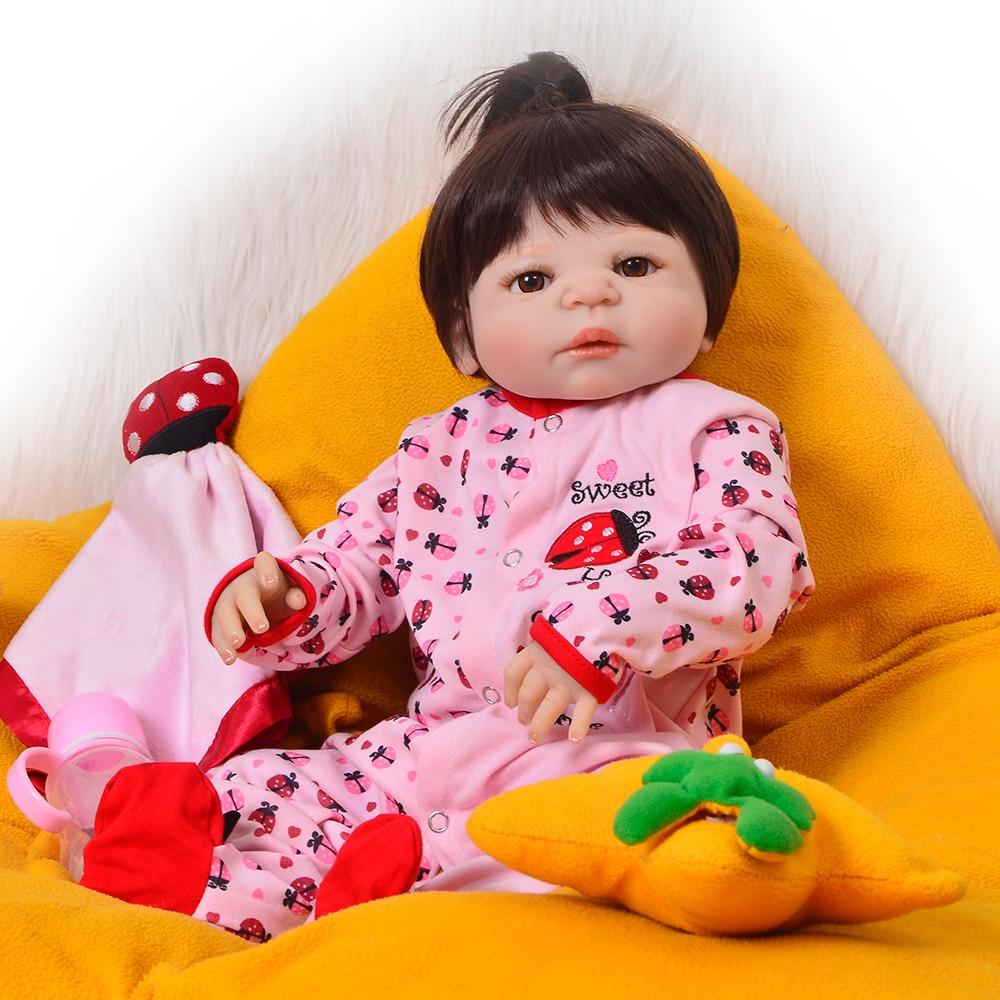 23 Inch 57 cm Full Silicone Vinyl Realistic Reborn Baby Doll Lifelike Princess Girl Babies Dolls