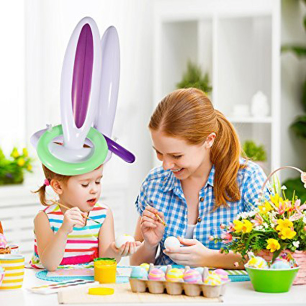Inflatable Bunny Ears Ring Toss Games Party Game Toys For Kids Parents Christmas Indoor Play  AN88