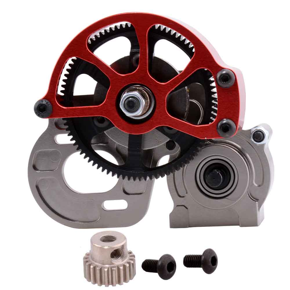 Free shipping CNC Aluminum Locked Transmission Set AX30487 For RC 1:10 Axial Racing SCX10 AX10 aluminum front knuckle arm 2pcs for axial ax10 scx10 silver