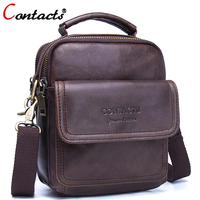 CONTACT S Men Messenger Bag Men Leather Handbag Genuine Leather Bags Shoulder Bags Luxury Brand Male