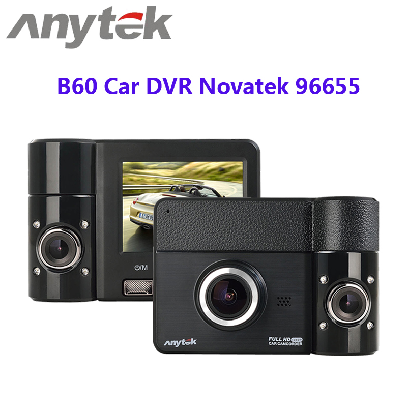 Anytek B60 Car DVR Novatek 96655 170 Degree Wide Angle 1080P 3.0MP Dash Camera 270 Degree Rotating View EIS Anti-shake Detector