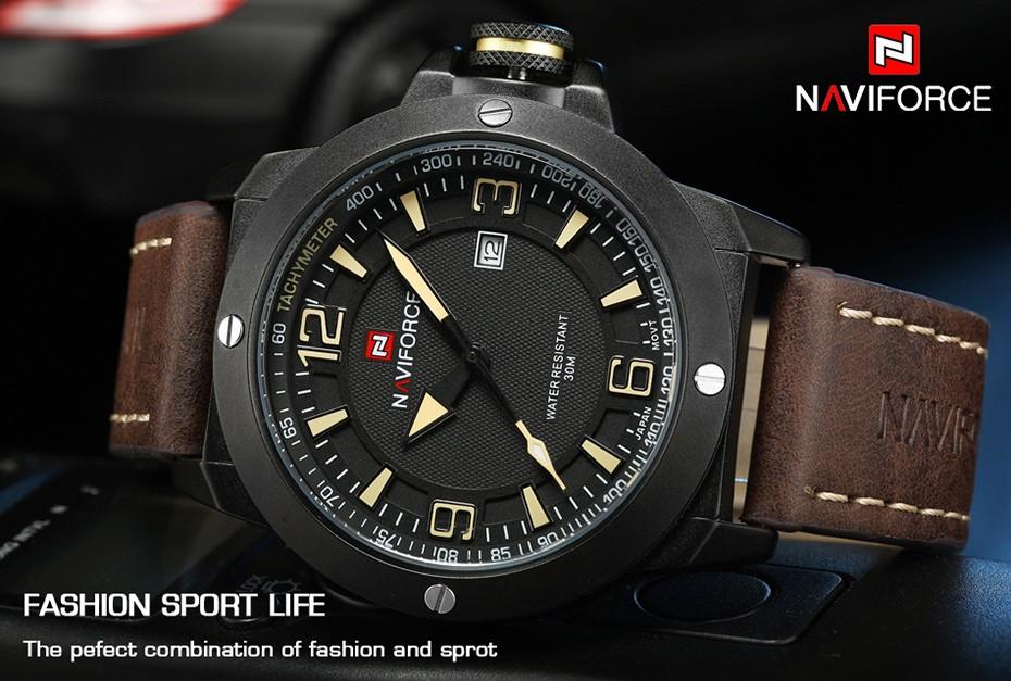 2017 Nouveau Luxe Marque Naviforce Hommes Classique Militaire Montres Hommes de Quartz Date Horloge Homme Poignet Montre de Sport Relogio Masculino 5
