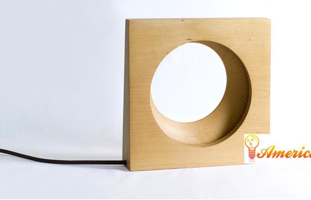 Crescente beleza mesa de decoração para casa minimalista lâmpada de cabeceira quarto lâmpada LED nocturna cintilante, De faia, Ac110-240v