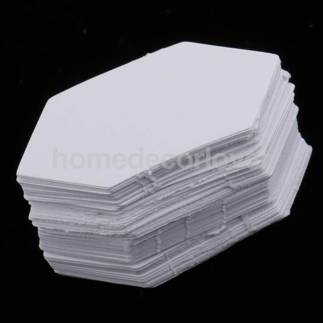 Online shop 200pcs hexagon shape blank paper quilting templates 200pcs hexagon shape blank paper quilting templates english paper piecing for patchwork 4279cm maxwellsz