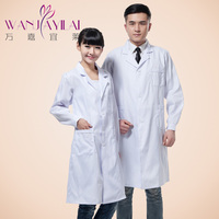 Unisex Medical cotton white coat work wear uniform clothes long sleeve uniform medical algodao casaco Branco