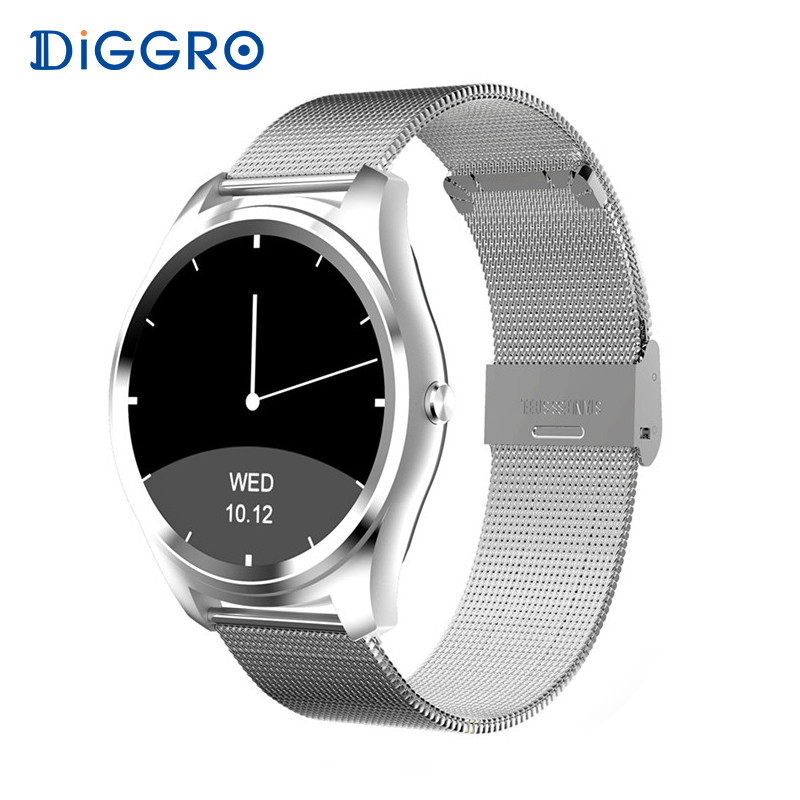 Diggro DI03 Smart Watch Bluetooth 4.0 Heart Rate IP67 Waterproof MTK2502 Call SMS Reminder Pedometer For Android IOS PK K88H diggro di03 plus bluetooth smart watch waterproof heart rate monitor pedometer sleep monitor for android & ios pk di02