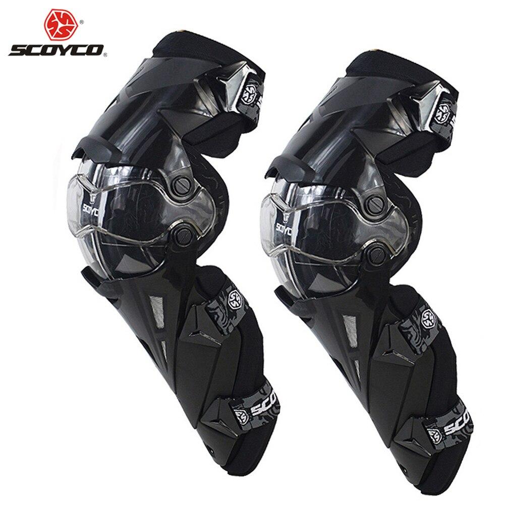 SCOYCO Moto Motocross genouillères protections Motosiklet Dizlik Genouillere K1216 Moto Joelheira genouillères de protection