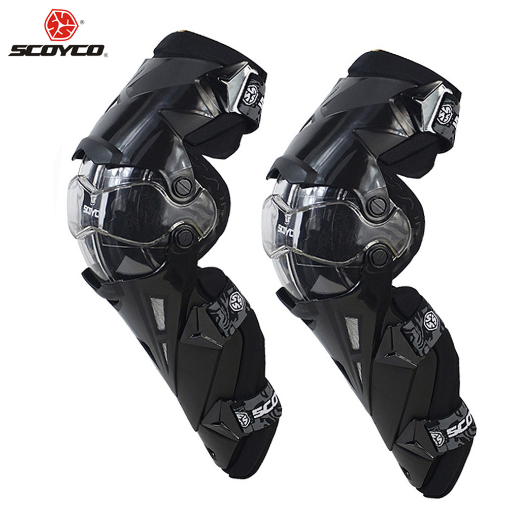 SCOYCO Motorcycle Motocross Knee Protector Pads Guards Motosiklet Dizlik Genouillere K1216 Moto Joelheira Protective Kneepads scoyco k11h11 motorcycle sports knee elbow protector pad guard kit black