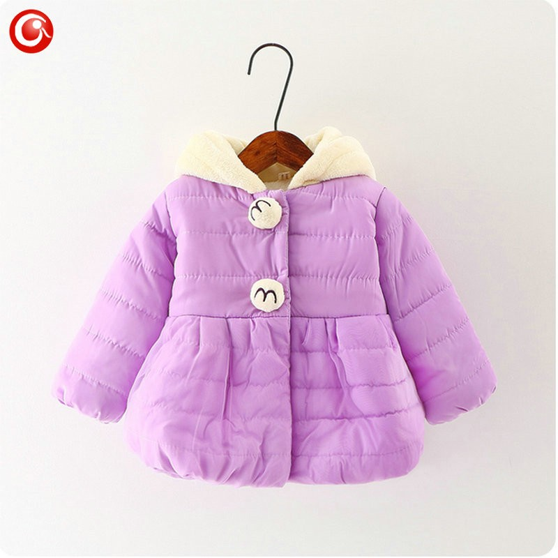 Winter Baby Girls Cartoon Rubbit Coat Thicken Kids Girl Snow Jacket Fleece Hooded Cotton Padded Outwear Christmas Clothes 2016 (6)