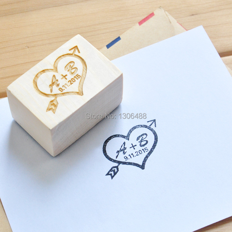 Personalized wedding stamp Custom Wood stamp Wedding Invitation