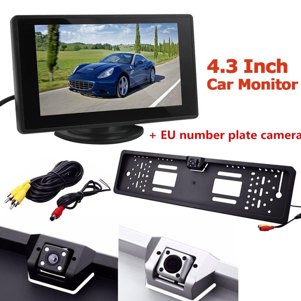 4,3 inch 2-kanaals video-ingang LCD-auto Achteruitkijkmonitor met - Auto-elektronica