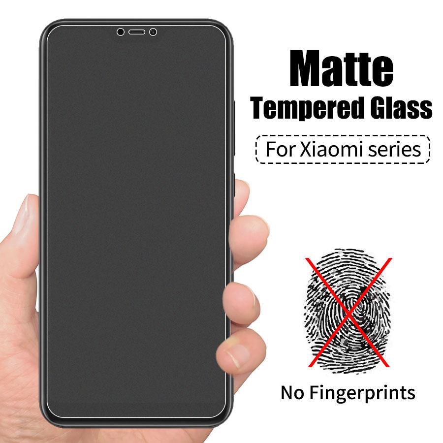 Matowy matowe szkło hartowane dla Xiaomi Redmi 7 6 6A Pro 5 5A Plus 4X Redmi Note 7 6 5 Pro 4 anti-Fingerprint ochraniacz ekranu 8