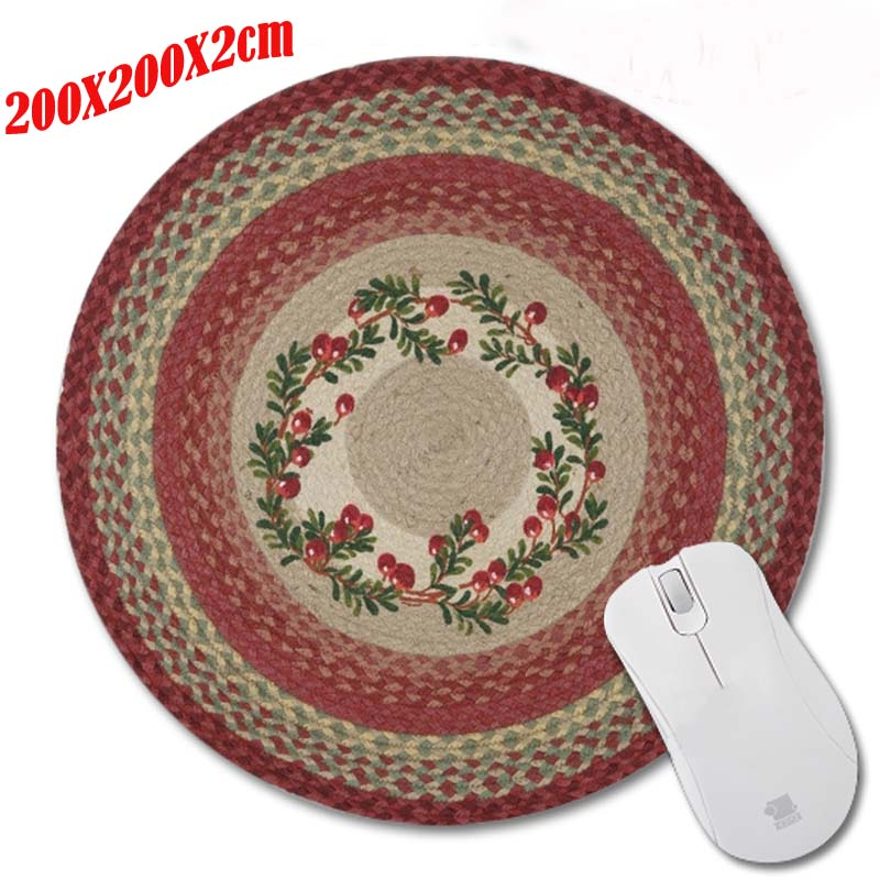 Carpet Top Selling 200*220*2mm Round Rubber Gaming Mouse Mat Custom Your Styles Non-slip Durable Computer and Laptop Mouse Pad