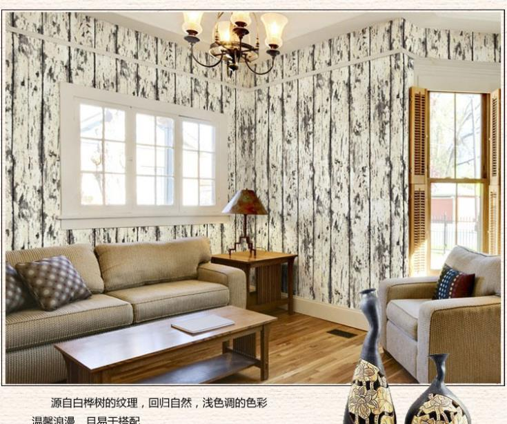 ФОТО American-made old classic retro Chinese style wood grain wallpaper hotel decoration