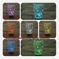 USB de la novedad Hello Kitty Nightlight 3D Atmósfera Lámpara de Mesa LED Gradiente de Colores ilusión Kids Navidad Año Nuevo Regalo de Cumpleaños