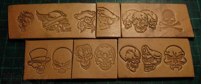 13 pcs modello del cranio A Mano lavoro unico design scultura punzoni craft stamp in pelle con intaglio in pelle-in Intaglio da Casa e giardino su  Gruppo 1