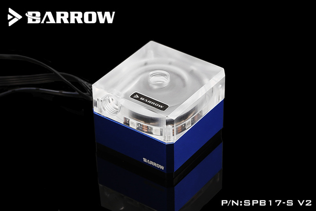 Barrow SPB17-S-V2, 17w Water Pump, DDC Series Metal Shell, Manual And PWM Speed Control Water Cooling Pump